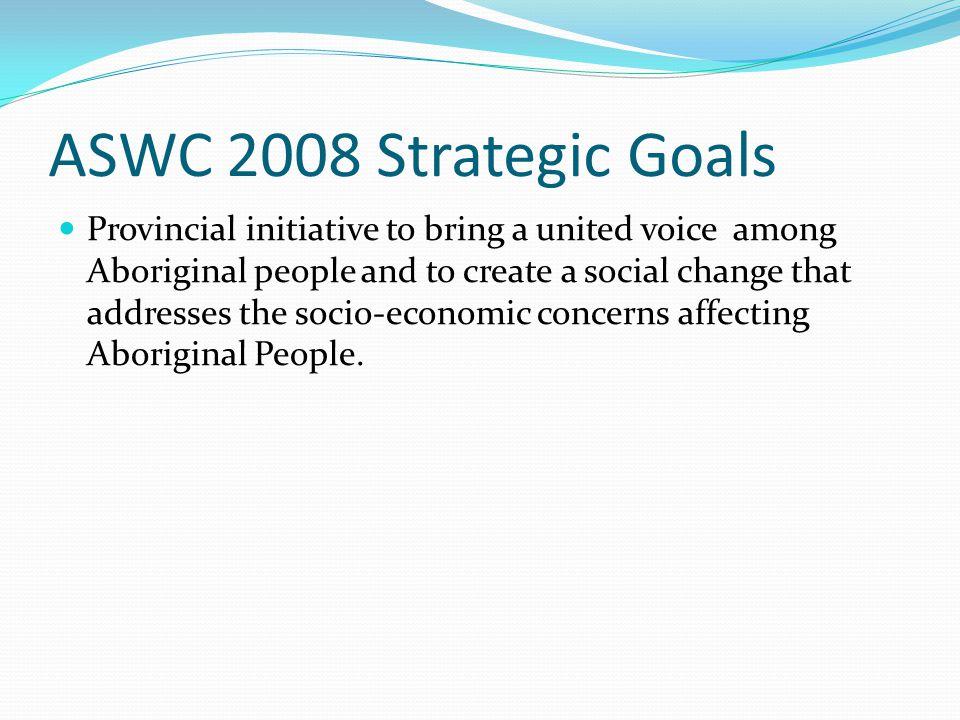 ASWC 2008 Strategic Goals