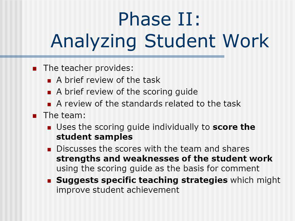 Phase II: Analyzing Student Work