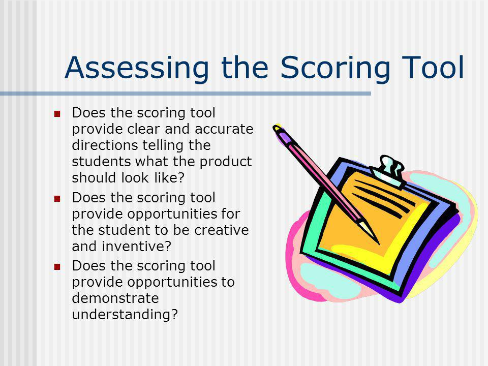 Assessing the Scoring Tool