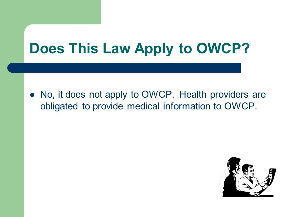 Does This Law Apply to OWCP
