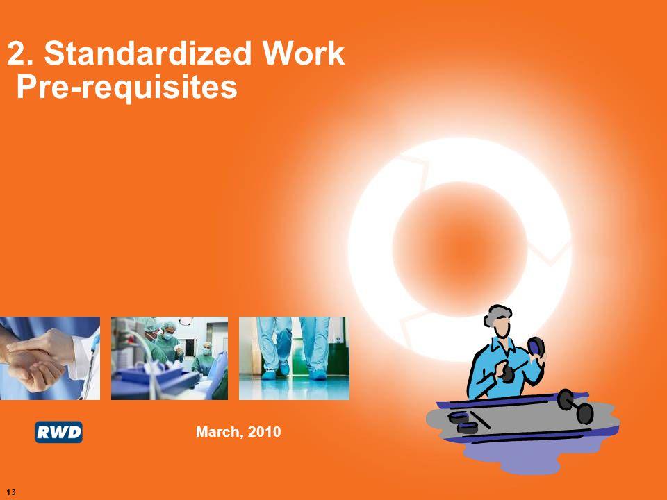 2. Standardized Work Pre-requisites