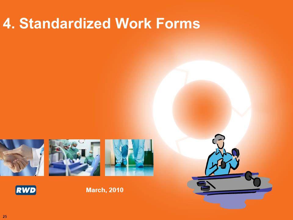 4. Standardized Work Forms