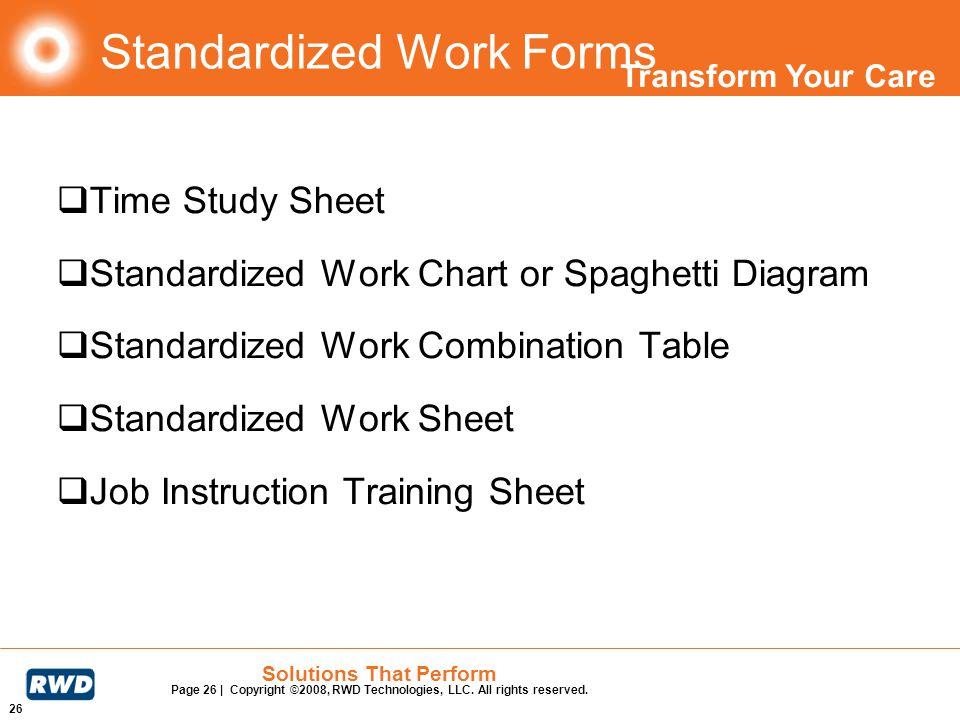 Standardized Work Forms