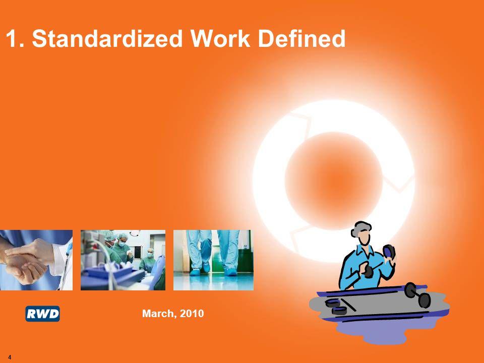 1. Standardized Work Defined