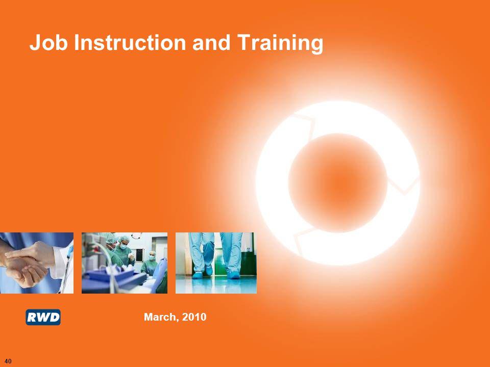 Job Instruction and Training