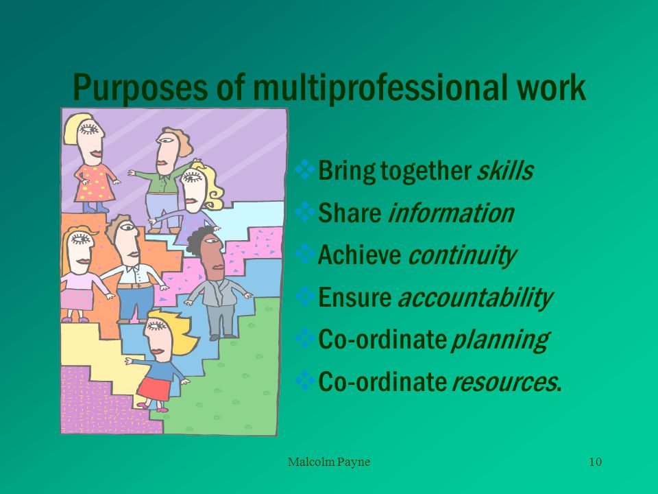 Purposes of multiprofessional work