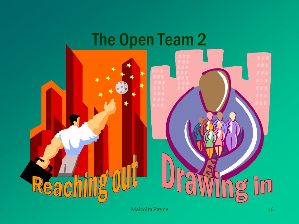 The Open Team 2 Reaching out Drawing in Malcolm Payne