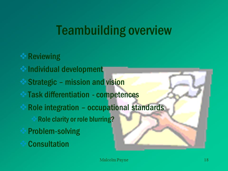 Teambuilding overview
