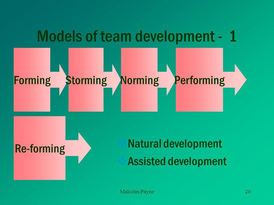 Models of team development - 1