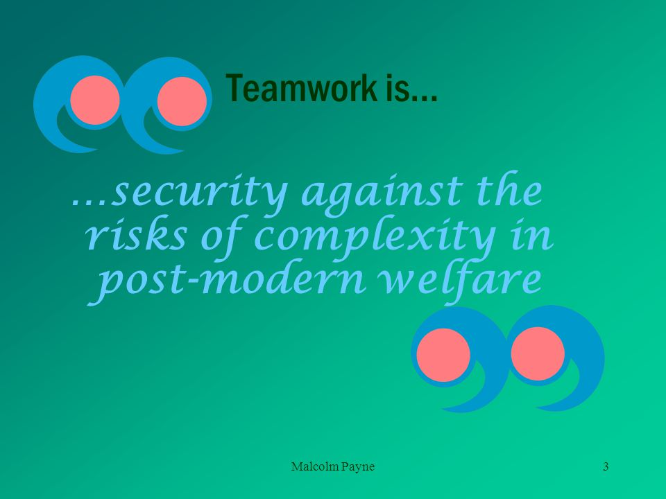 …security against the risks of complexity in post-modern welfare