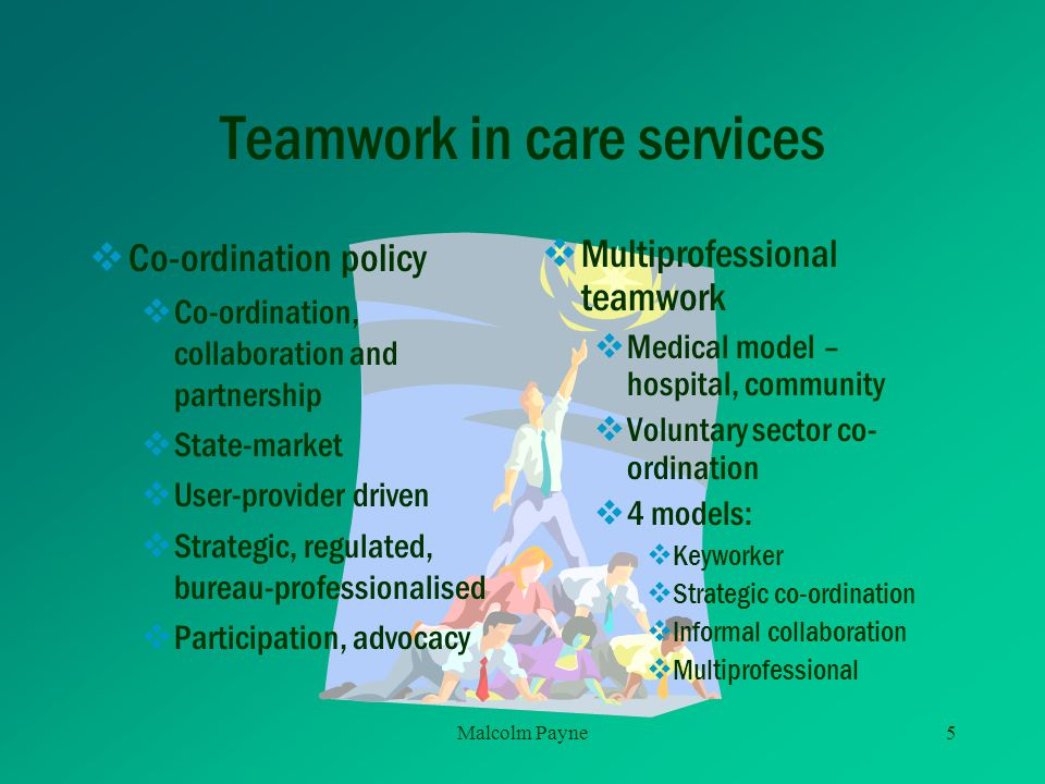 Teamwork in care services