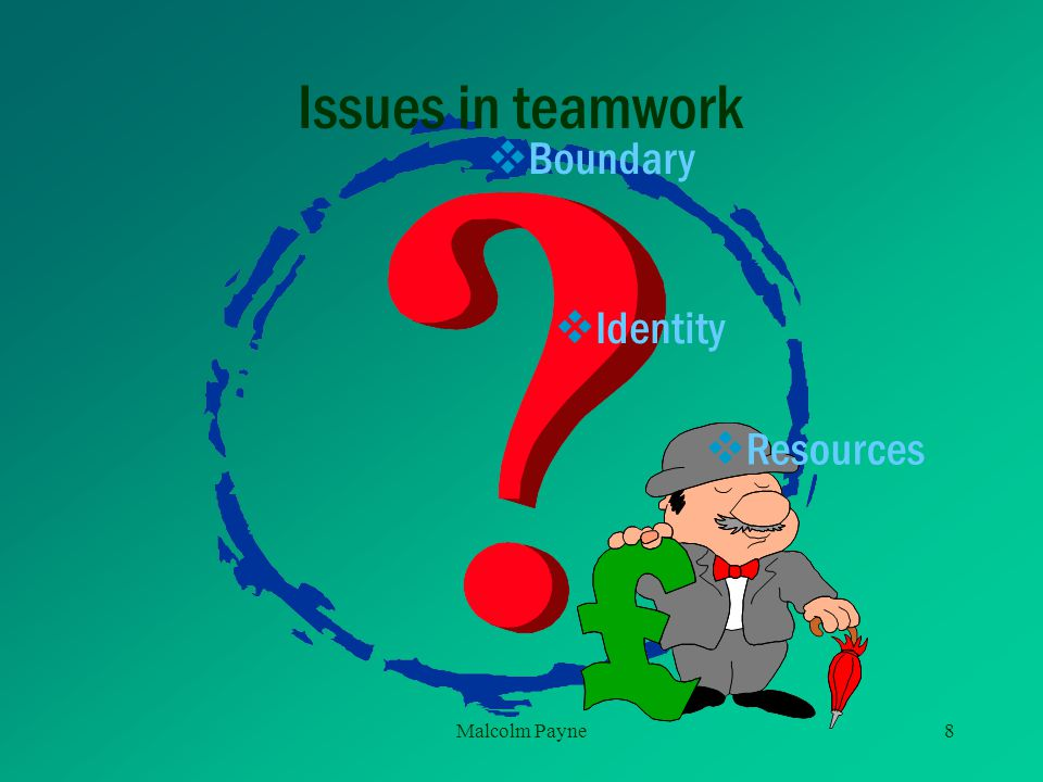 Issues in teamwork Boundary Identity Resources Malcolm Payne