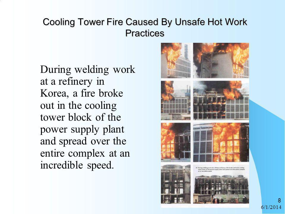 Cooling Tower Fire Caused By Unsafe Hot Work Practices