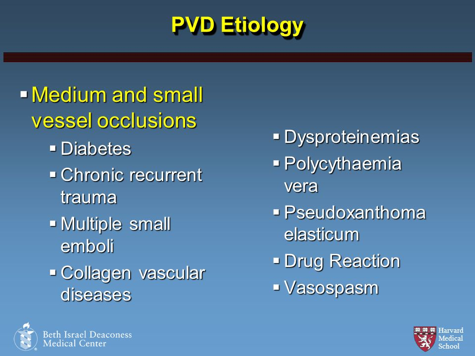 Medium and small vessel occlusions