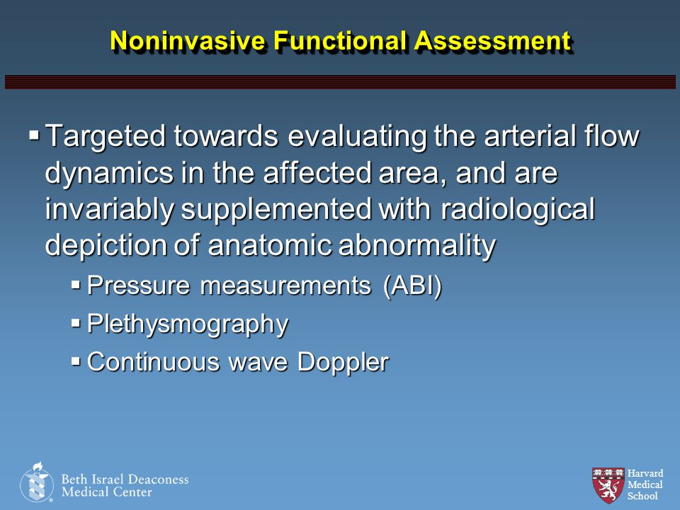Noninvasive Functional Assessment