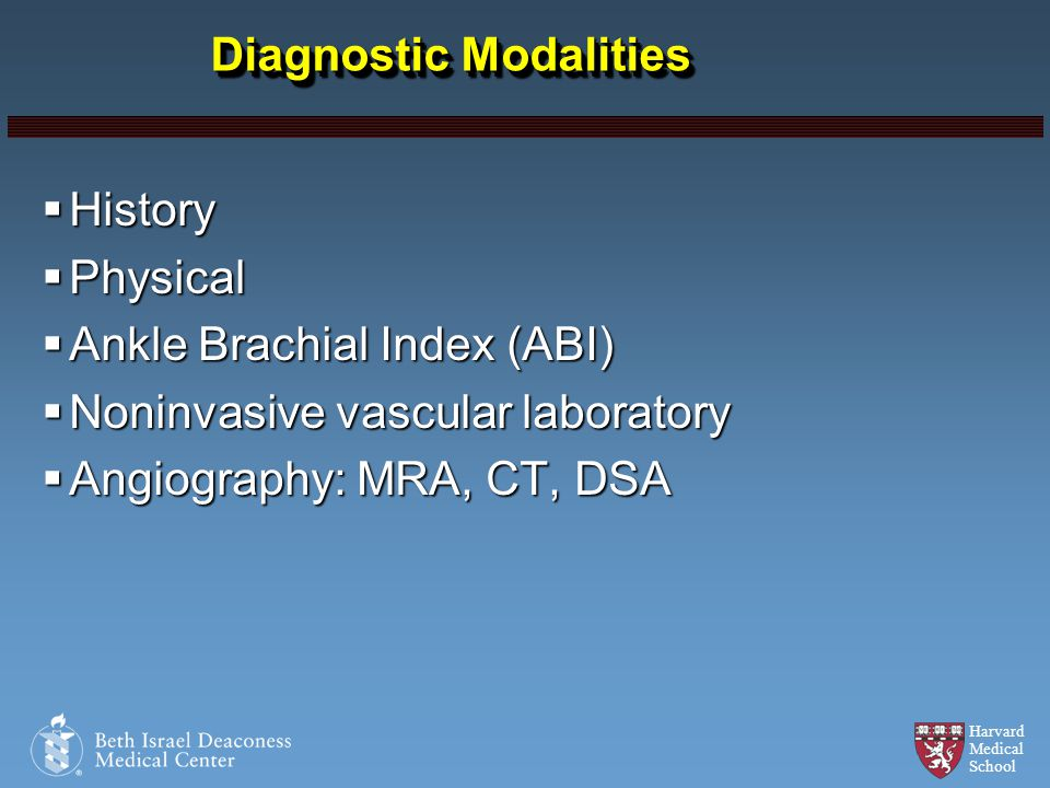 Diagnostic Modalities