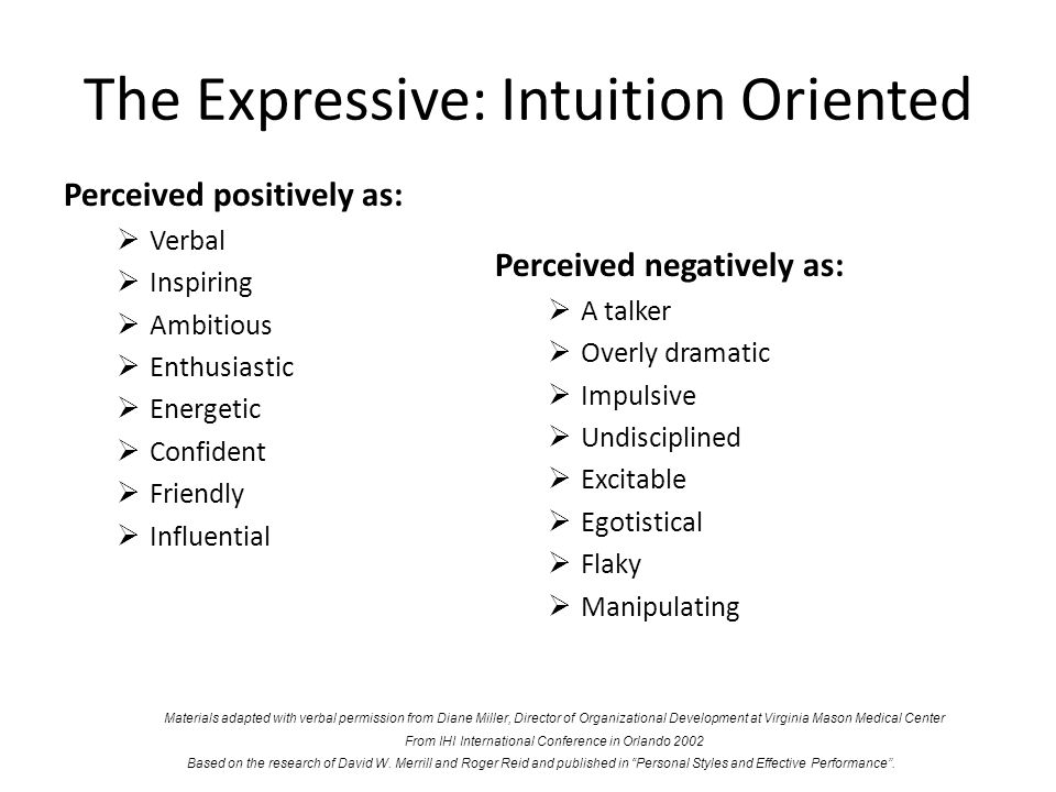 The Expressive: Intuition Oriented