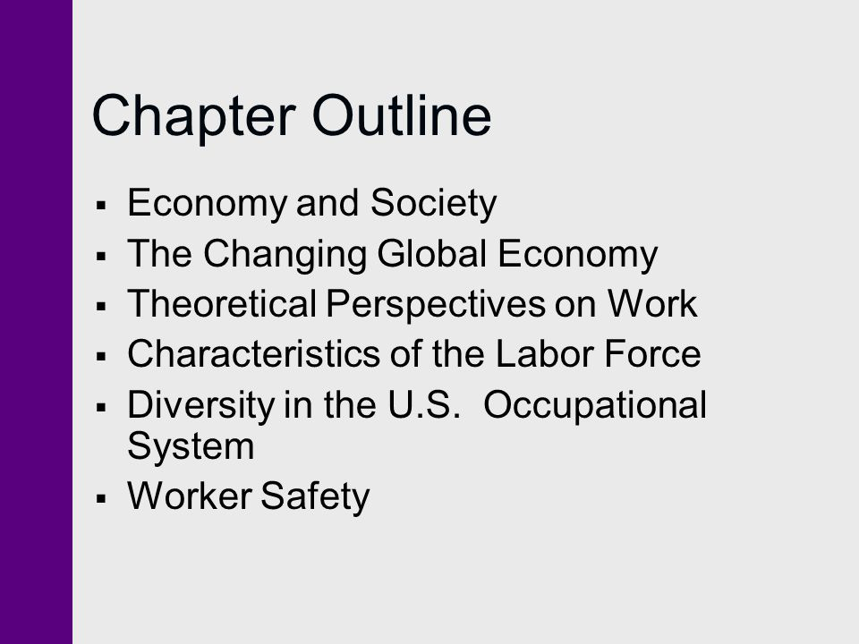 Chapter Outline Economy and Society The Changing Global Economy