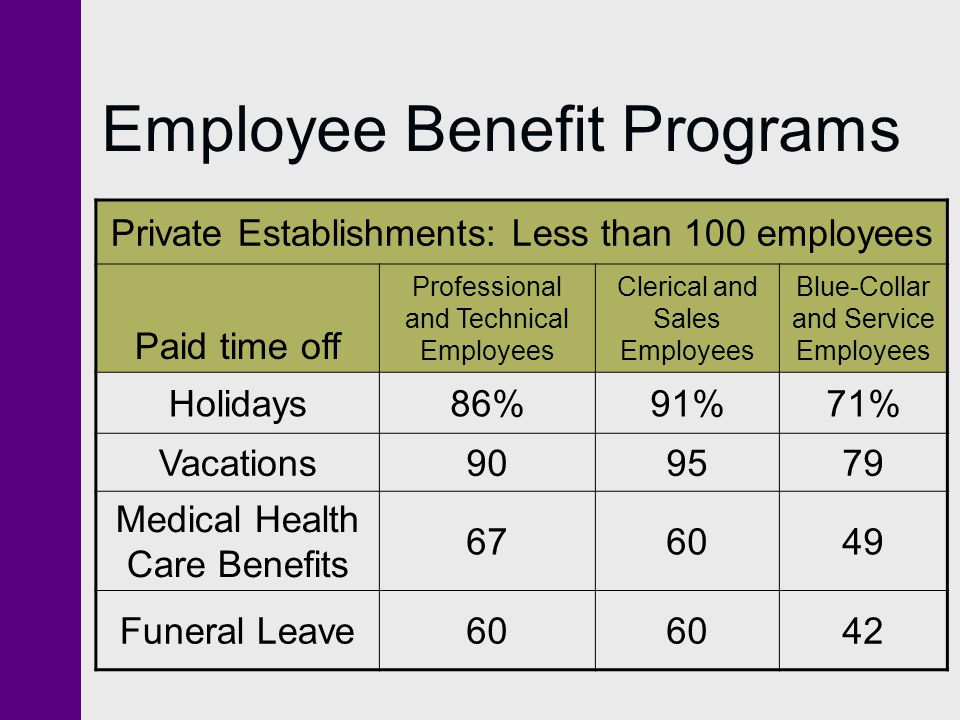 Employee Benefit Programs