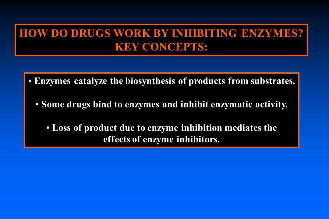 HOW DO DRUGS WORK BY INHIBITING ENZYMES KEY CONCEPTS: