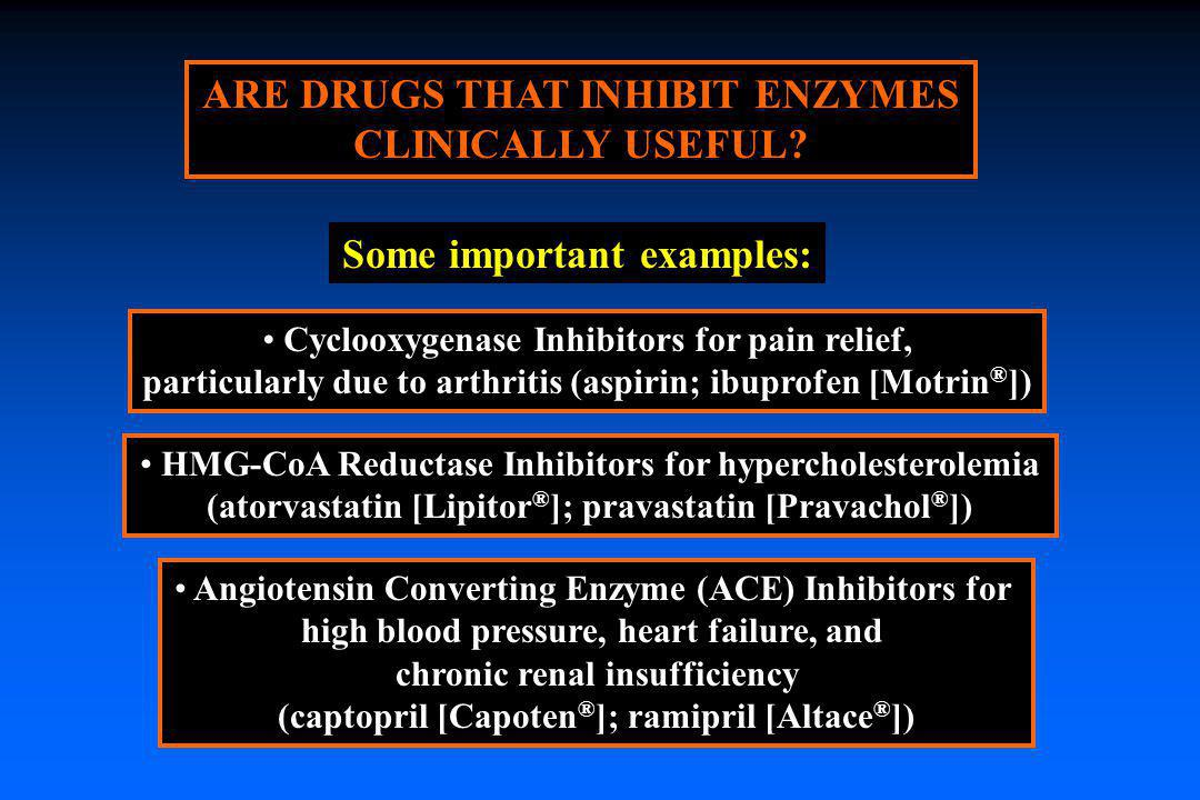 ARE DRUGS THAT INHIBIT ENZYMES CLINICALLY USEFUL