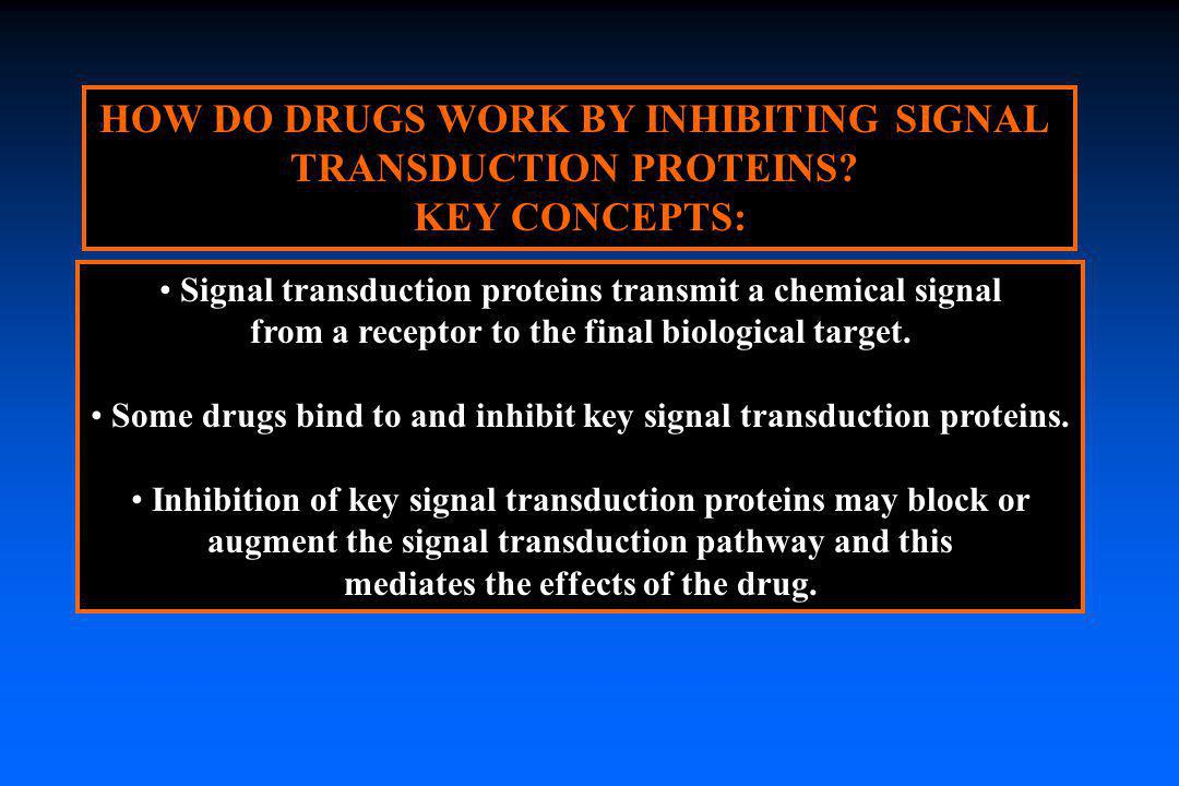 HOW DO DRUGS WORK BY INHIBITING SIGNAL TRANSDUCTION PROTEINS