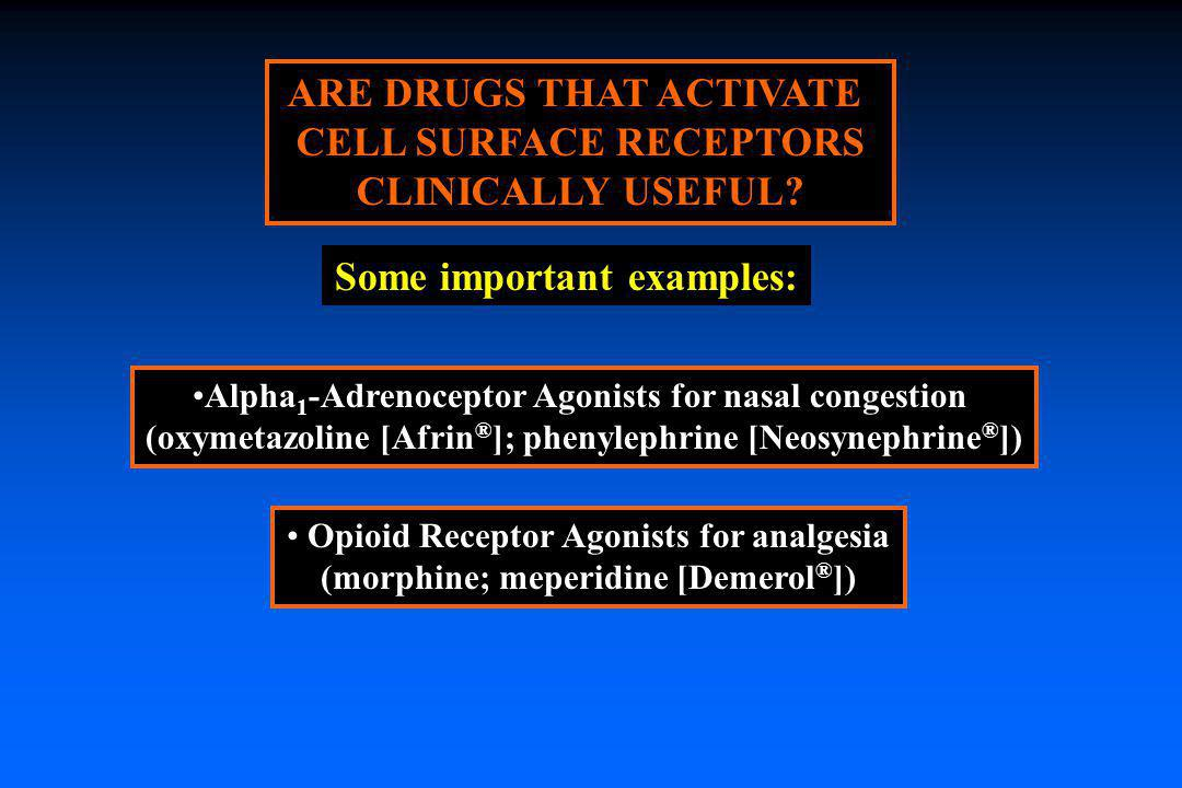 ARE DRUGS THAT ACTIVATE CELL SURFACE RECEPTORS CLINICALLY USEFUL