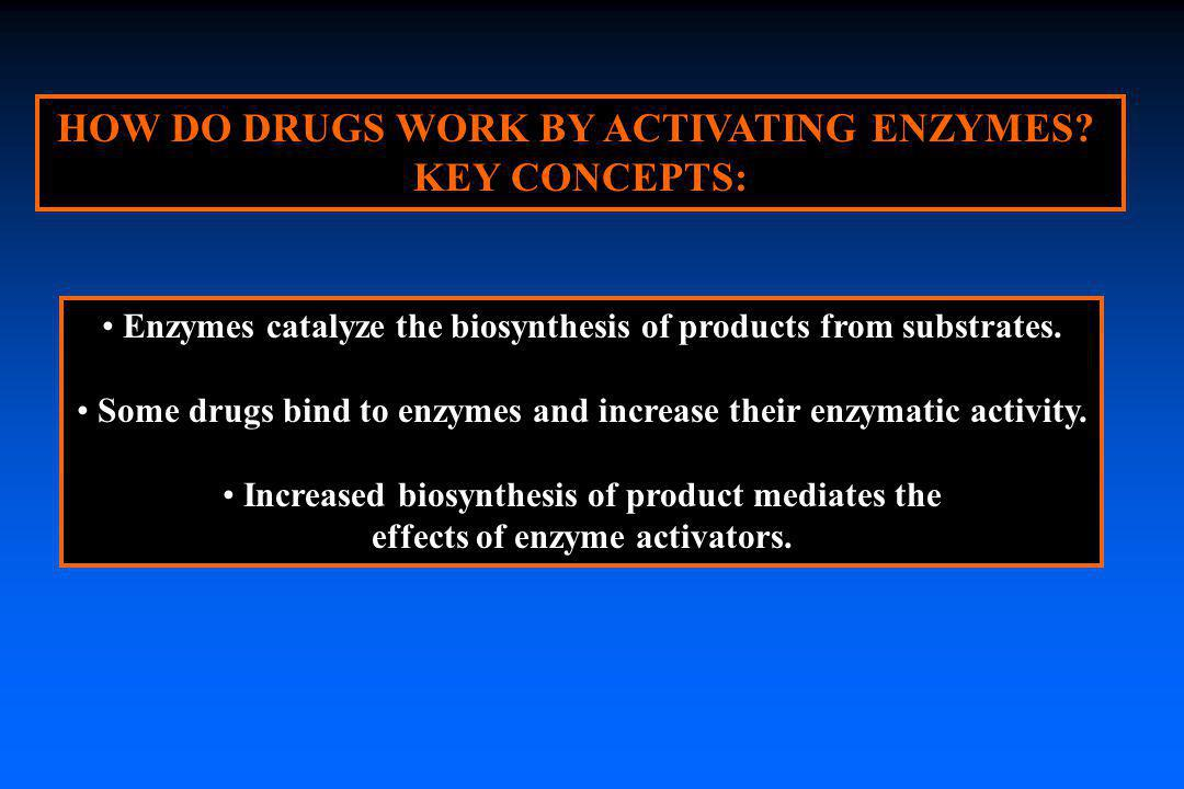 HOW DO DRUGS WORK BY ACTIVATING ENZYMES KEY CONCEPTS: