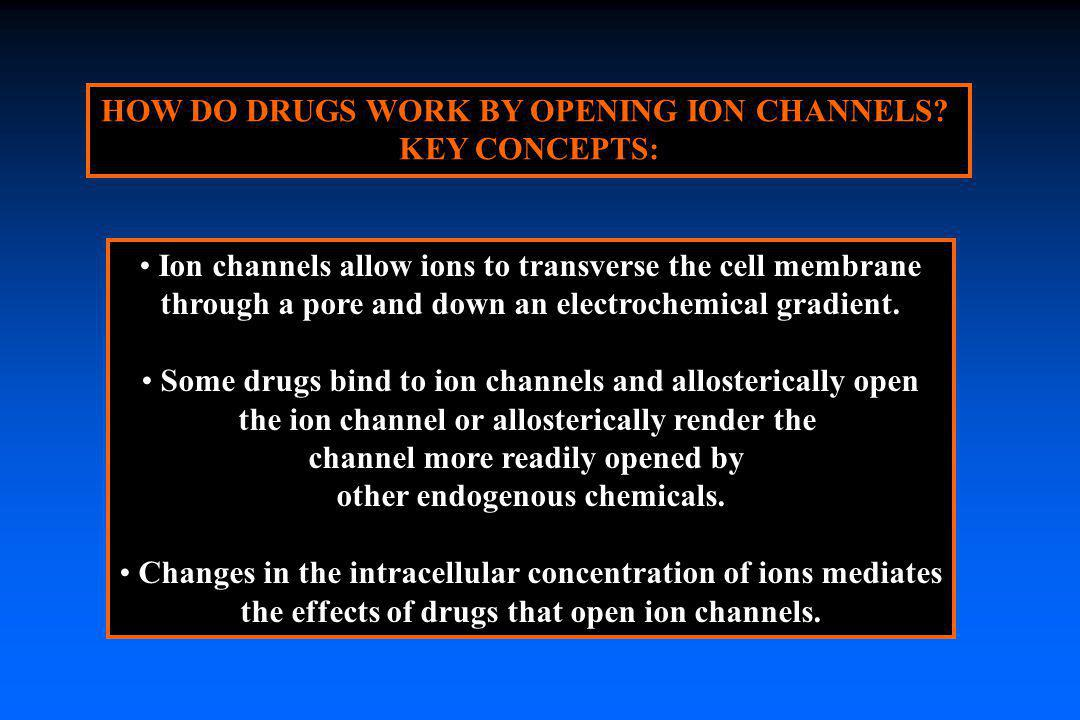 HOW DO DRUGS WORK BY OPENING ION CHANNELS KEY CONCEPTS:
