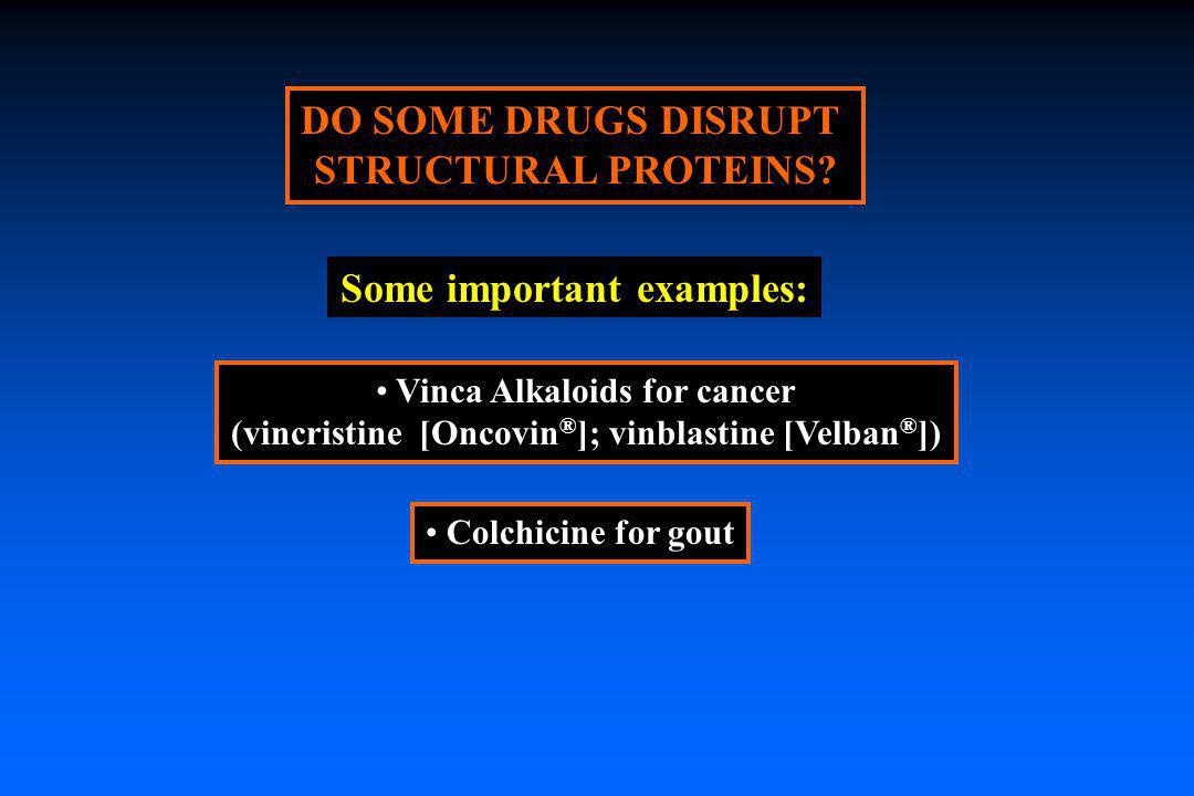 DO SOME DRUGS DISRUPT STRUCTURAL PROTEINS Some important examples:
