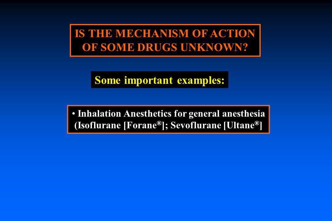 IS THE MECHANISM OF ACTION OF SOME DRUGS UNKNOWN
