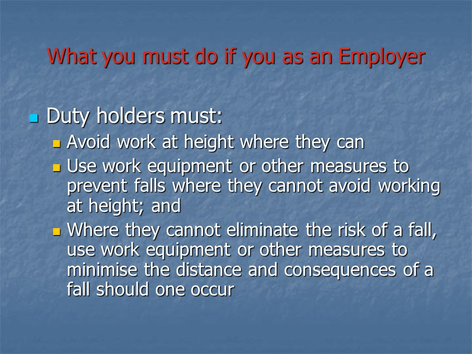 What you must do if you as an Employer