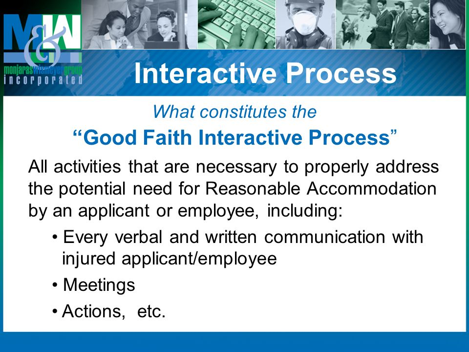 Good Faith Interactive Process