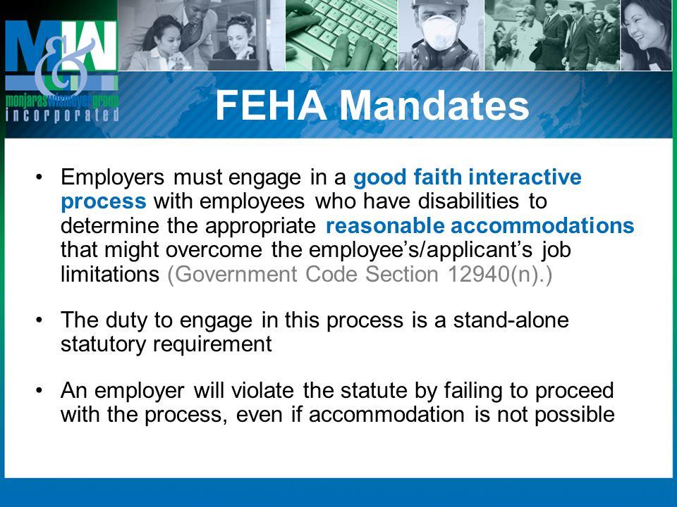 FEHA Mandates