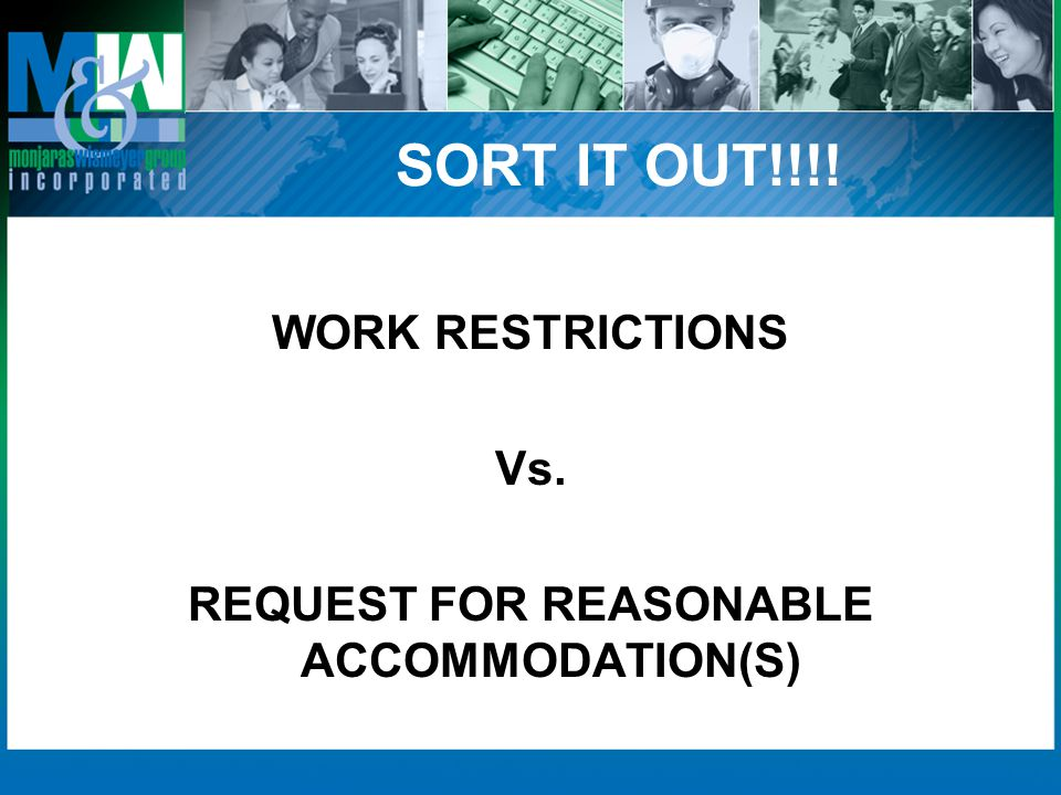 REQUEST FOR REASONABLE ACCOMMODATION(S)
