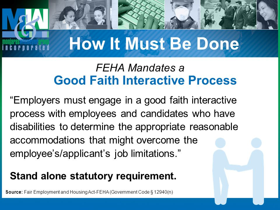 FEHA Mandates a Good Faith Interactive Process