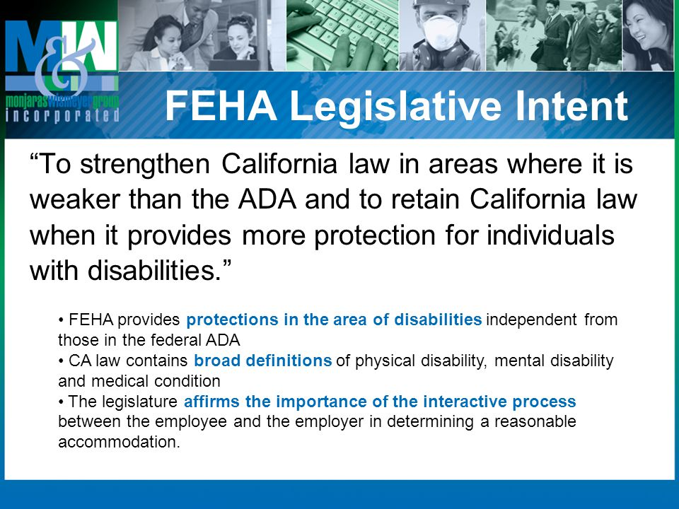 FEHA Legislative Intent