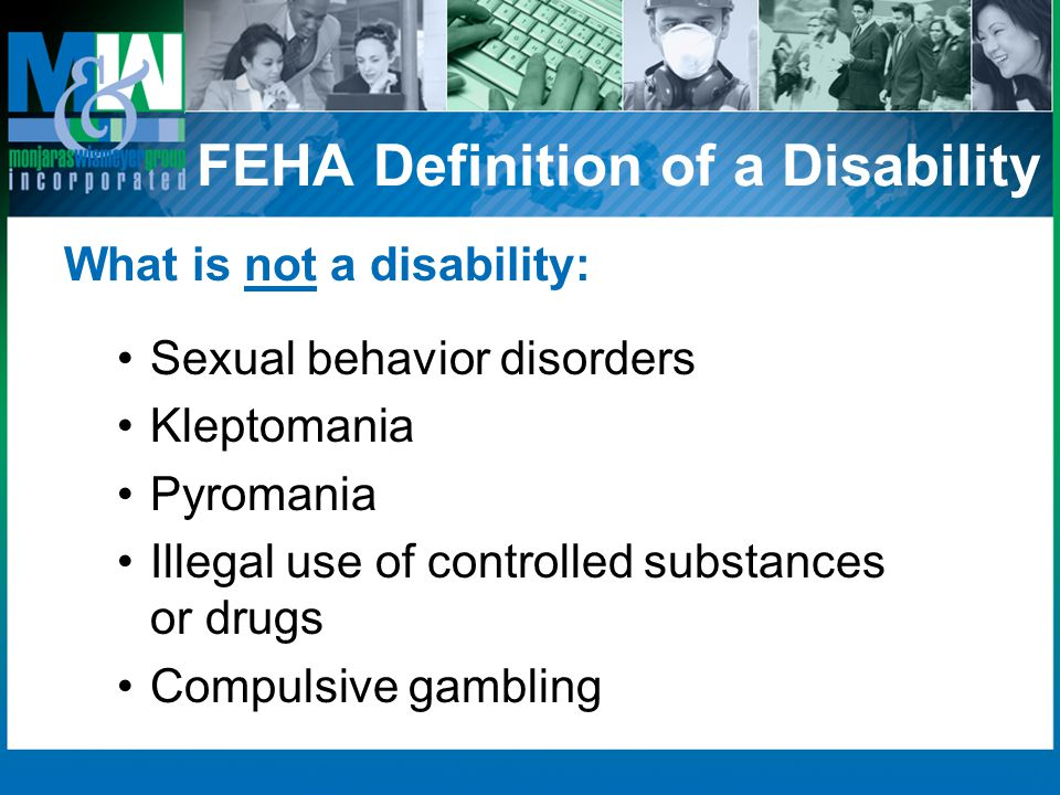 FEHA Definition of a Disability