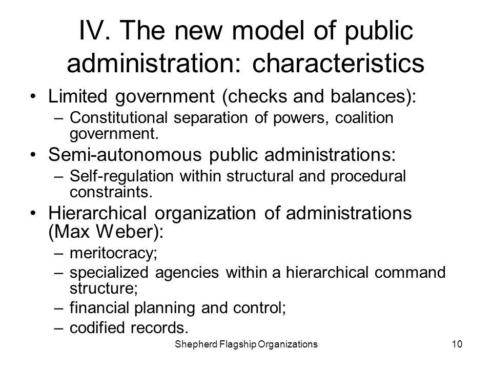 IV. The new model of public administration: characteristics