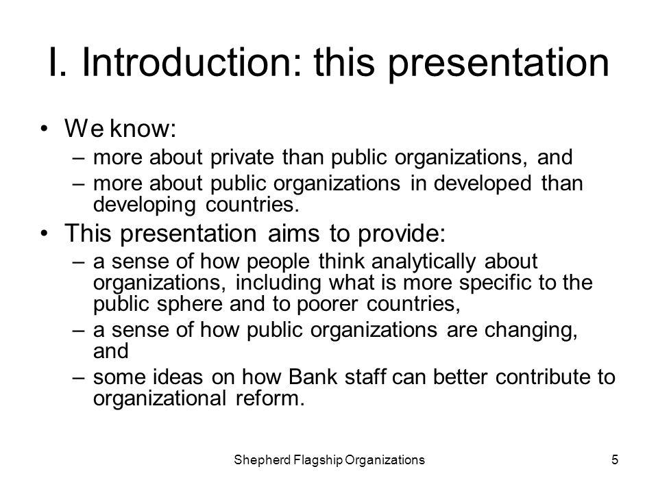 I. Introduction: this presentation