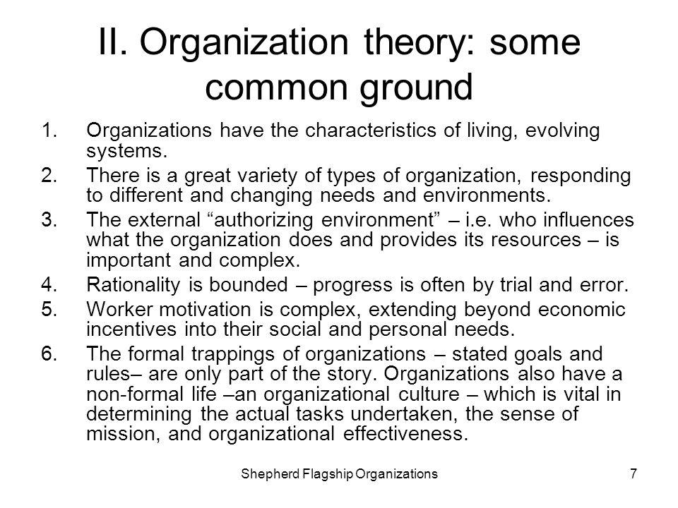 II. Organization theory: some common ground