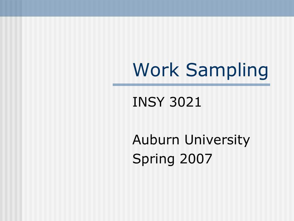 INSY 3021 Auburn University Spring 2007