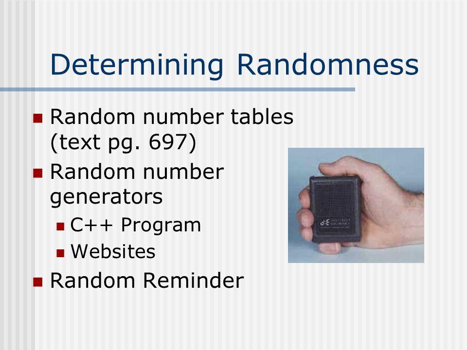 Determining Randomness