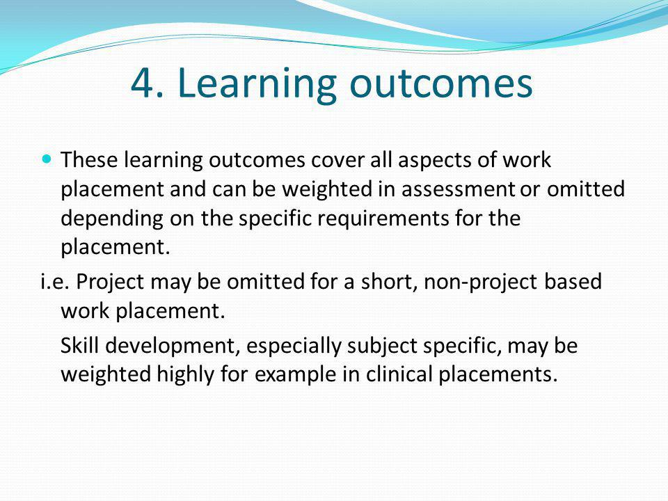 4. Learning outcomes