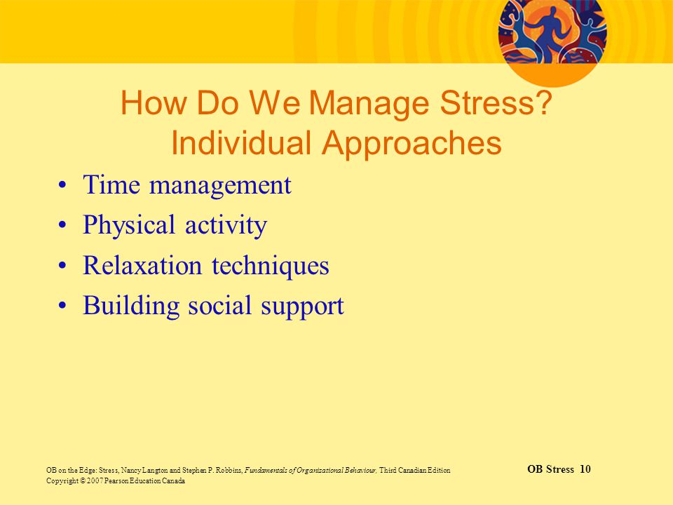 How Do We Manage Stress Individual Approaches