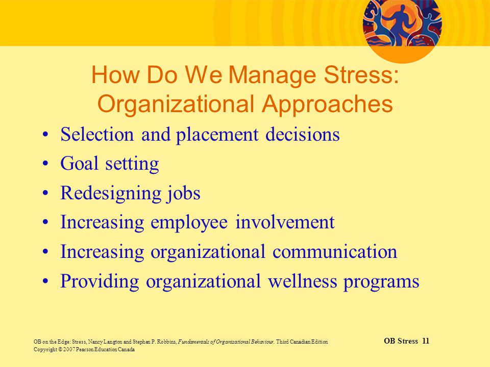 How Do We Manage Stress: Organizational Approaches