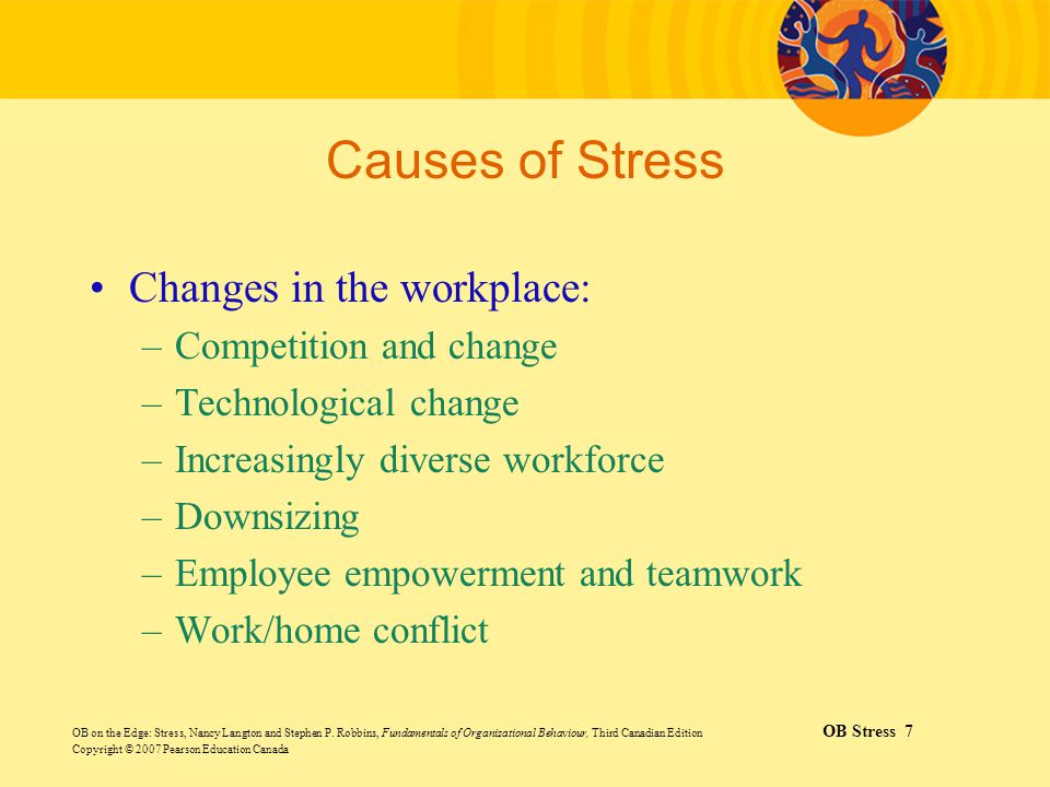 Causes of Stress Changes in the workplace: Competition and change