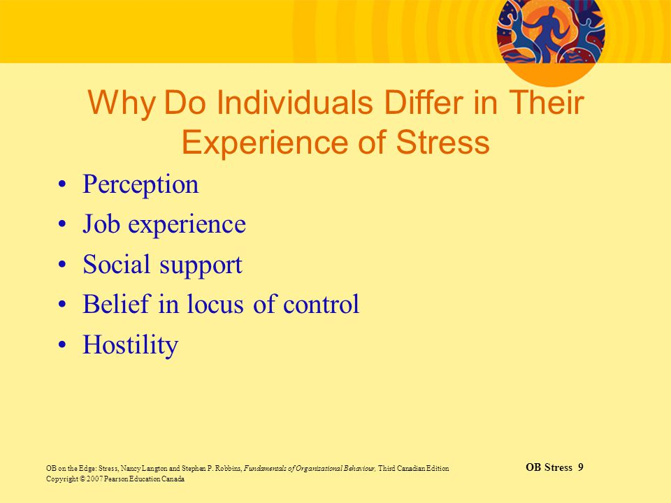 Why Do Individuals Differ in Their Experience of Stress