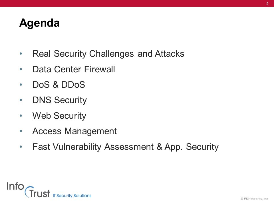 Agenda Real Security Challenges and Attacks Data Center Firewall