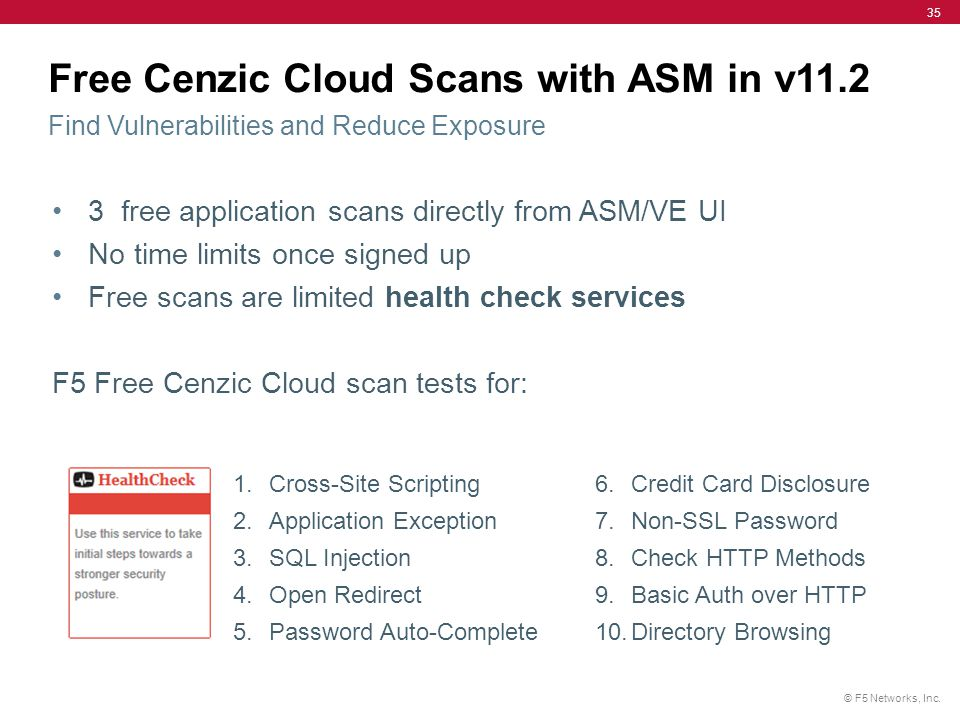 Free Cenzic Cloud Scans with ASM in v11